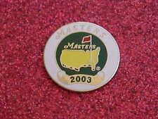 2003 Augusta National Golf Club Masters Tournament Stemmed Enamel Ball Marker SC