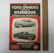 Vintage (1949) FORD Owner's Complete Handbook Automobile Auto Car Vehicle yz4362