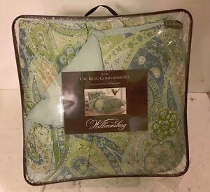 Sea glass 4pc COMFORTER SET. comforter, Bed Skirt and Shams. CAL KING. Brand New