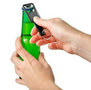Bottle Shaped Bottle Opener - Aluminium Keyring - Various Colours