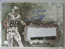 2014 Topps Inception  Player Worn 2 Color Jumbo Patch, Auto, RC Jace Amaro