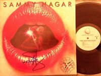 SAMMY HAGAR Signed THREE LOCK BOX VINYL  LP Cover VG free shpg & insrnc GHS 2021