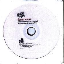 SCRITTI POLITTI Snow In Sun/Robin Hood Acoustic Radio Session French promo DVD