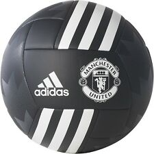 adidas Capitano 2017 - 2018 Soccer Ball Manchester United Edition Black Size 5