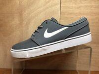 NIKE Zoom Stefan Janoski Gray White Men's Skateboarding Shoes size 8