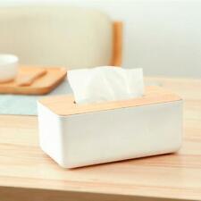 Tissue Box Dispenser Wooden Cover Paper Storage Holder Napkin Case Organizer New