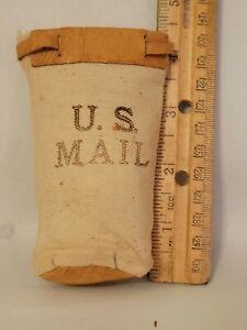 Rare Advertising Salesman Sample USPS mail postal bag doll size Antique Vintage