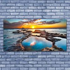 Glasbilder Wandbild Druck auf Glas 140x70 Meer Sonne Landschaft