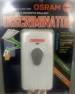Osram electronic and magnetic lighting ballast identifier/discriminator