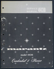 Marantz Model 4430 original quadradial 4 receptor Service-Manual/diagram o166