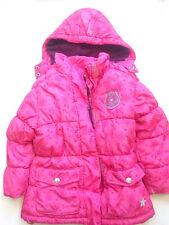 warme Winterjacke Gr.110 Second Hand gebraucht Jacke gefüttert pink violett Pony