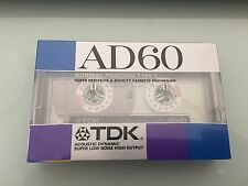 TDK AD60 60min New Cassette Tape Normal Position Vintage rare From Japan