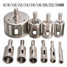 10Pcs Diamond Hole Saw Drill Bit Tool Cutting For Glass Ceramic Marble 6-30mm