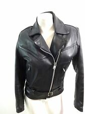 ALL AMERICAN RIDER HEAVY LEATHER MOTORCYCLE BIKER JACKET~GENUINE SIZE S