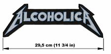 ALCOHOLICA logo BACK PATCH embroidered NEW Metallica thrash metal