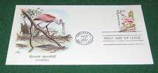 U.S. First Day Cover State Birds, Roseate Spoonbill, Louisiana 22 Cents 1987