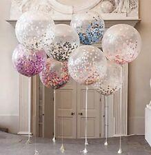 Luftballons mit Konfetti Set 5 Stück Geburtstag Party Taufe JGA Hochzeit