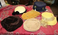 6 Vintage 1960s Ladies Hats Bergdorf Goodmans 1950s 1960s