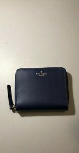 NWT Kate Spade New York Darci Wright Place Sapphire Zip Around Wallet WLRU3321