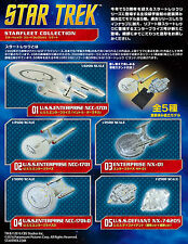 Star Trek Starfleet Collection Reboot Full Complete Set (5) F-toys Japanese
