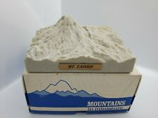 Topographic 3D Relief Model of Mount Mt. Ranier Mountains in Miniature 1986