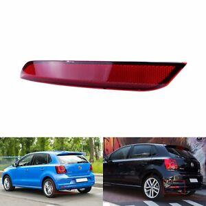 For VW Polo Hatchback 2014-2017 Red Len Left Rear Bumper Reflector Lamp No Light
