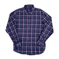 John Varvatos Men's Designer Plaid Button Down Dress Shirt | Medium