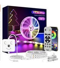 Led Strip Lights for Bedroom, 50ft Bluetooth APP Music Sync Led Light Strips