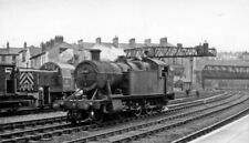 PHOTO  GWR 2-8-0T LOCO 5241 AT NEWPORT RAILWAY STATION TPASSING A  DIESEL D9519