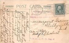 RICHMOND TO SHELBYVILLE INDIANA RFD AUXILIARY MARKING STAMP CANCEL POSTCARD 1914