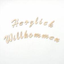 """Holzbuchstaben """"Herzlich Willkommen"""" , 5cm Wandtattoo Text  Buchstaben Schilder"""