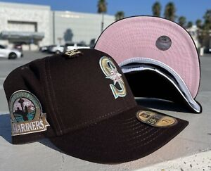 Cap City Exclusive Seatle Mariners 30th Anniversary Size 7 3/8 Pink UV Hat Club