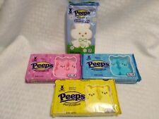 (4) Packs Variety PEEPS Marshmallow ~ Giant Bunny~Pink~Blue~Yellow ~4 Pack Bunny