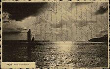 Heyst Belgien AK mit Frankatur ~1920 Vers la Hollande Blick über das Meer Boot