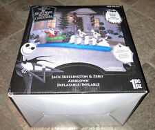 Jack Skellington & Zero Christmas Sleigh Inflatable LED 11.5 Ft Yard Ornament