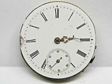 Antique No Name Pocket Watch Movement. 41 mm in size. porcelain dial