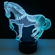 3D Panel Acrylic 7 Color Changing Touch 10LED Beads Night Light Art Lamp