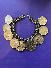 Argentine Peso coin bracelet gold colour genuine Argentina