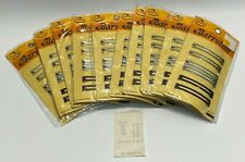 LOT OF 10 VINTAGE NOS 1975 Goody Barrettes Metal 6 Pack Gold/Silver/Brown #8903