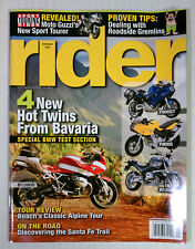 RIDER MAGAZINE BACK ISSUE HARLEY DIRT HONDA 2006 NOVEMBER BMW R1200S F800S