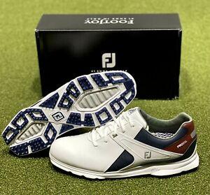 FootJoy Pro SL Spikeless Golf Shoes 53848 White/Navy 11 Medium (D) NEW #64574