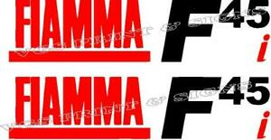 2 X FIAMMA F45i CARAVAN/MOTORHOME AWNING DECALS STICKERS CHOICE OF COLOURS #009