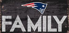"New England Patriots FAMILY Football Wood Sign - NEW 12"" x 6""  Decoration Gift"