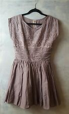 Brand New FREE PEOPLE Lavender Lace Lined DRESS SIZE 4