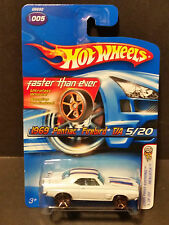 Hot Wheels #005 First Editions  5/20 :'69 Firebird T/A - G6692 White Gold Rims