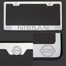 T304 Chrome Polished Fit Nissan Laser Etched Engraved License Plate Frame Screw