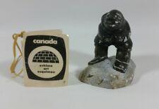 1983 Hand Carved Marble Stone Canadian Eskimo Art - Povungnituk by Daniel Sala