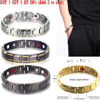 Mens Therapeutic Energy Healing Copper Magnetic Bracelet Therapy Arthritis UK