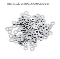 100Pz 304 Acciaio Inox Rondelle Viti Bulloni M1.6/M2/M2.5/M3/M4/M5/M6/M8/M10