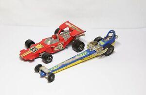 Corgi 162 Quartermaster Dragster & Matchbox Speedkings Race Car - Retro Pair
